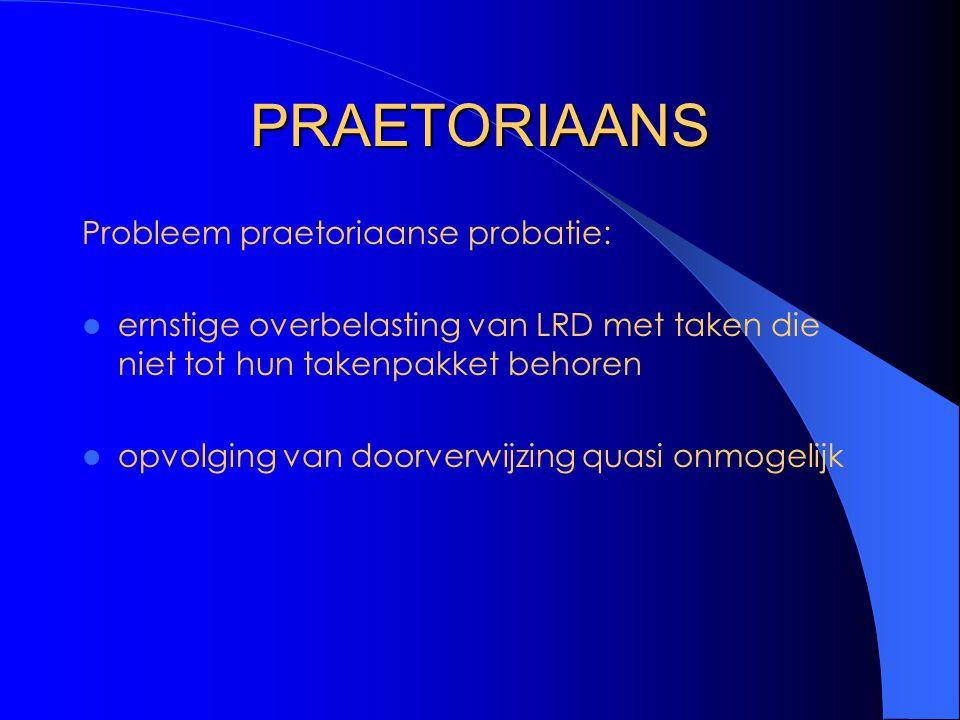 PRAETORIAANS Probleem praetoriaanse probatie: