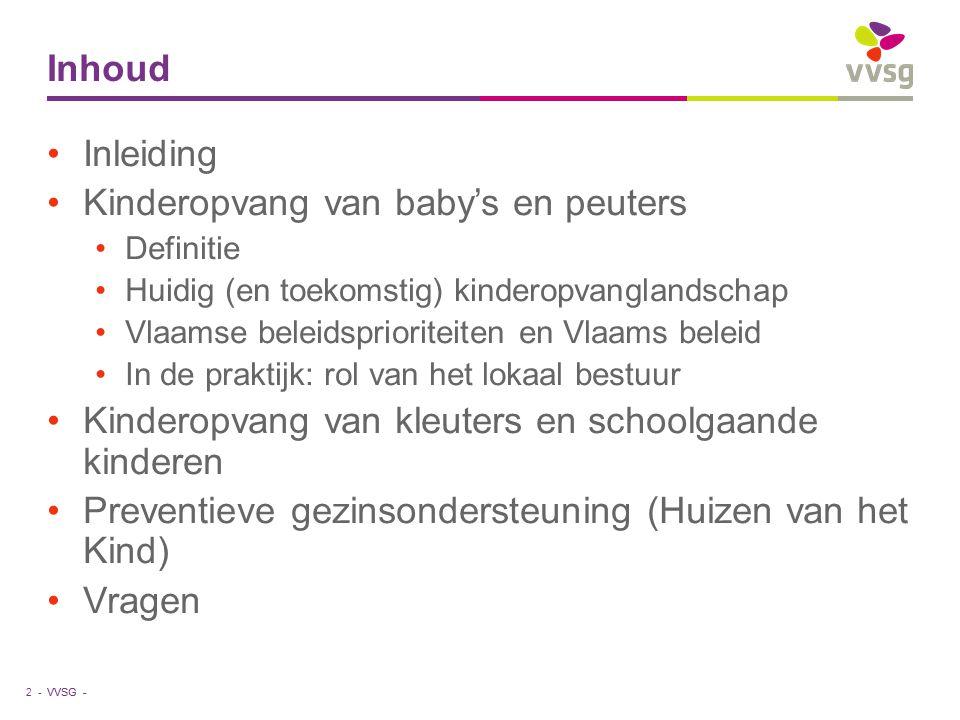 Kinderopvang van baby's en peuters