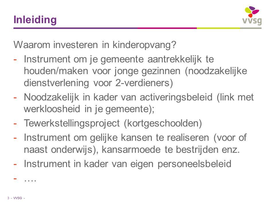 Inleiding Waarom investeren in kinderopvang