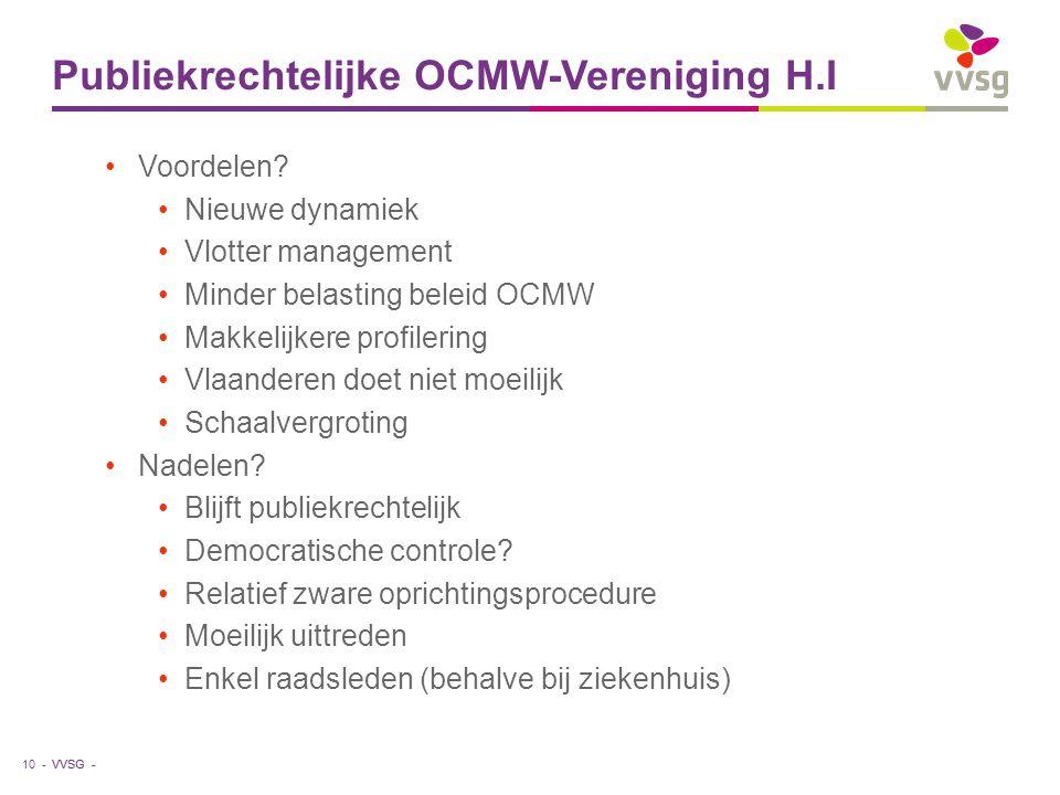 Publiekrechtelijke OCMW-Vereniging H.I