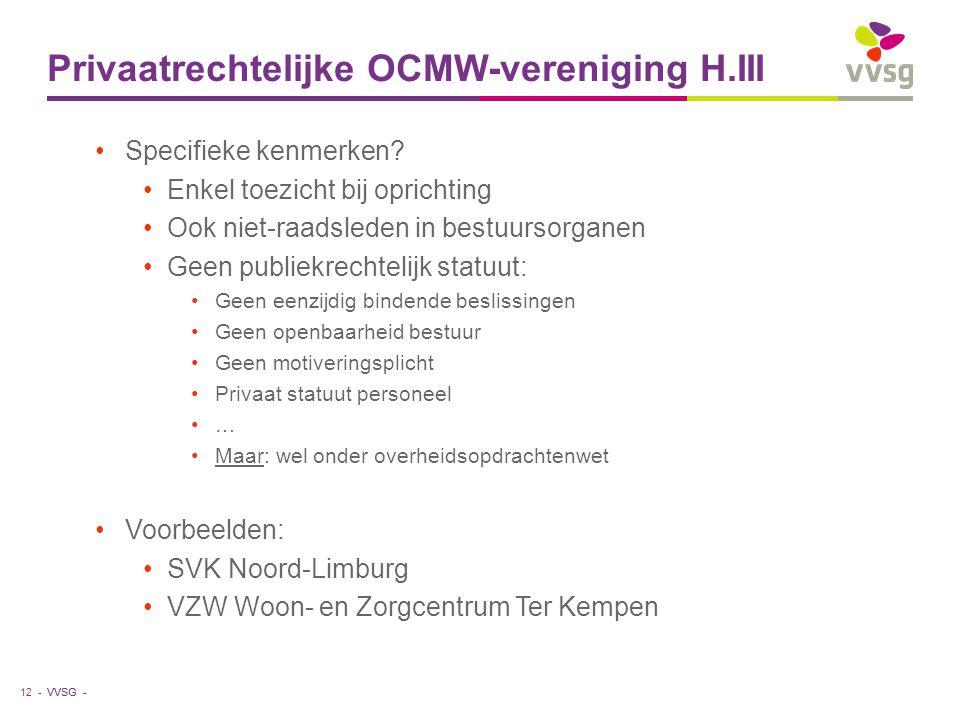 Privaatrechtelijke OCMW-vereniging H.III