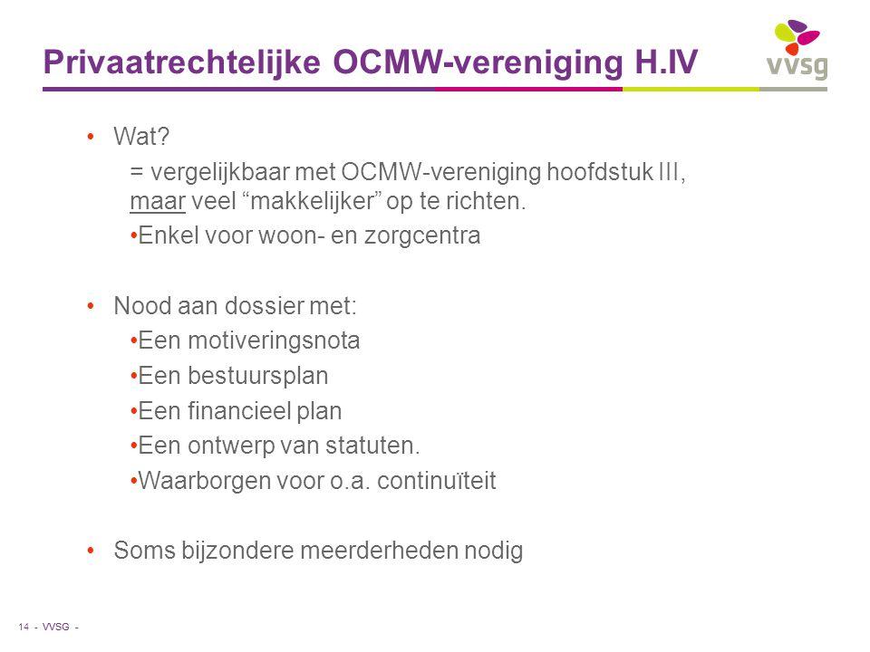 Privaatrechtelijke OCMW-vereniging H.IV