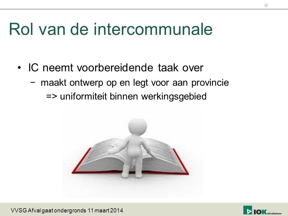 Rol van de intercommunale
