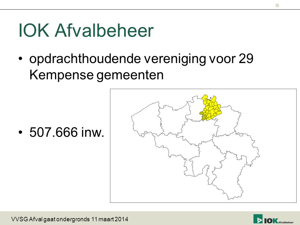 IOK Afvalbeheer opdrachthoudende vereniging voor 29 Kempense gemeenten
