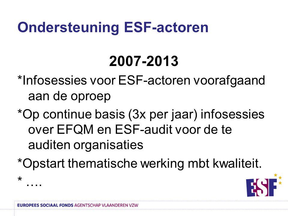 Ondersteuning ESF-actoren
