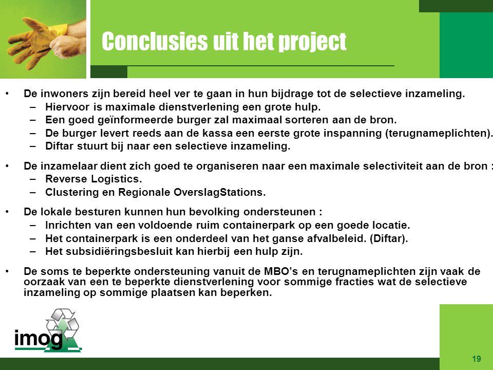 Conclusies uit het project