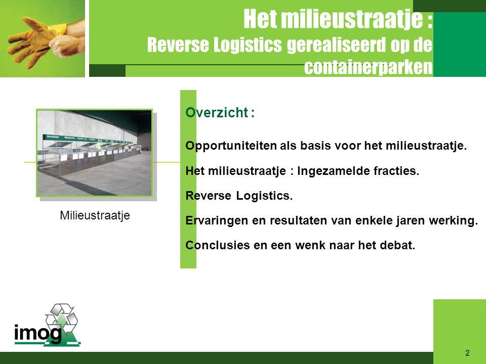 Het milieustraatje : Reverse Logistics gerealiseerd op de containerparken