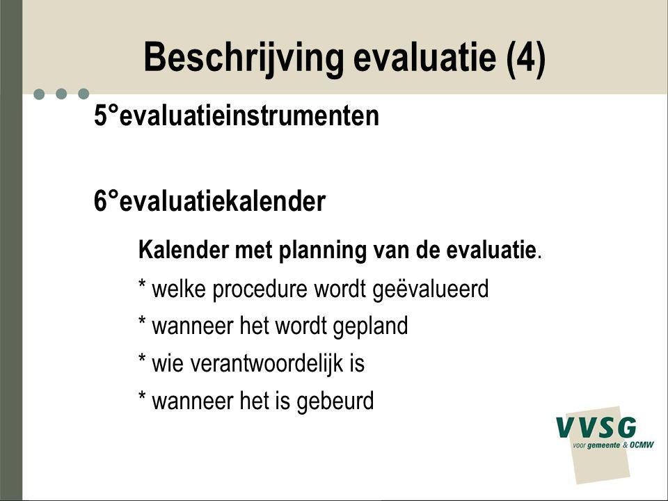 Beschrijving evaluatie (4)