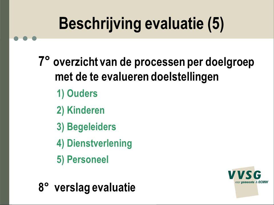 Beschrijving evaluatie (5)