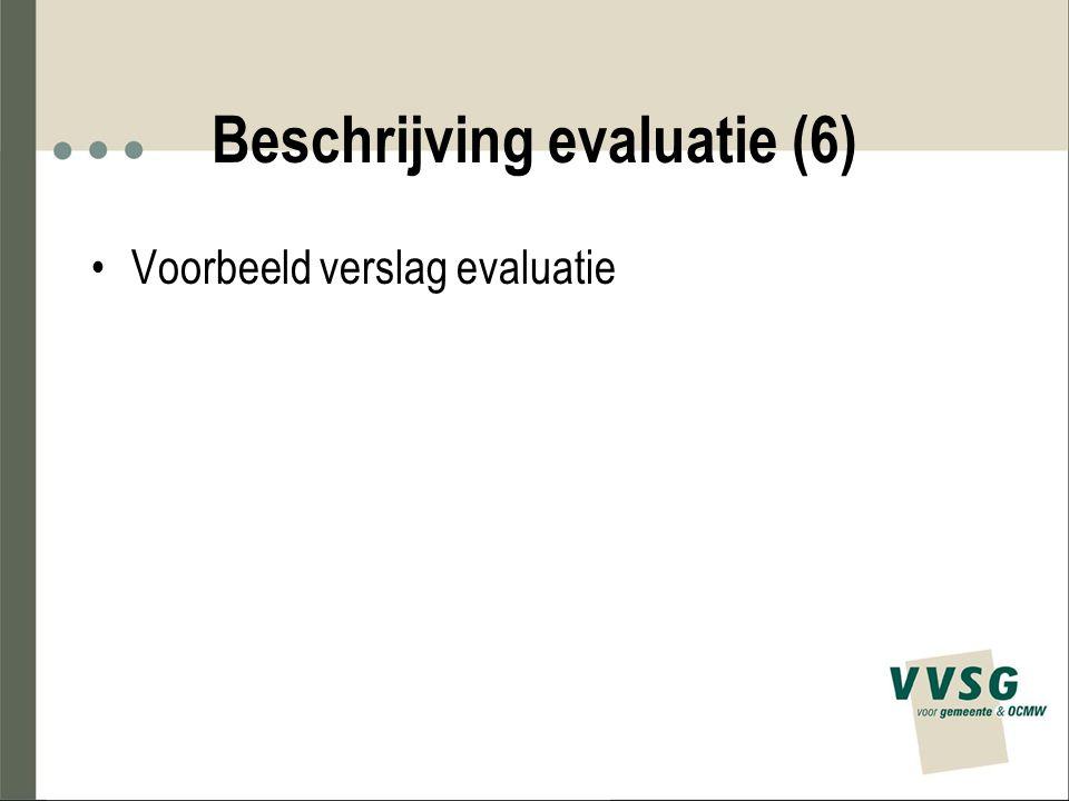 Beschrijving evaluatie (6)