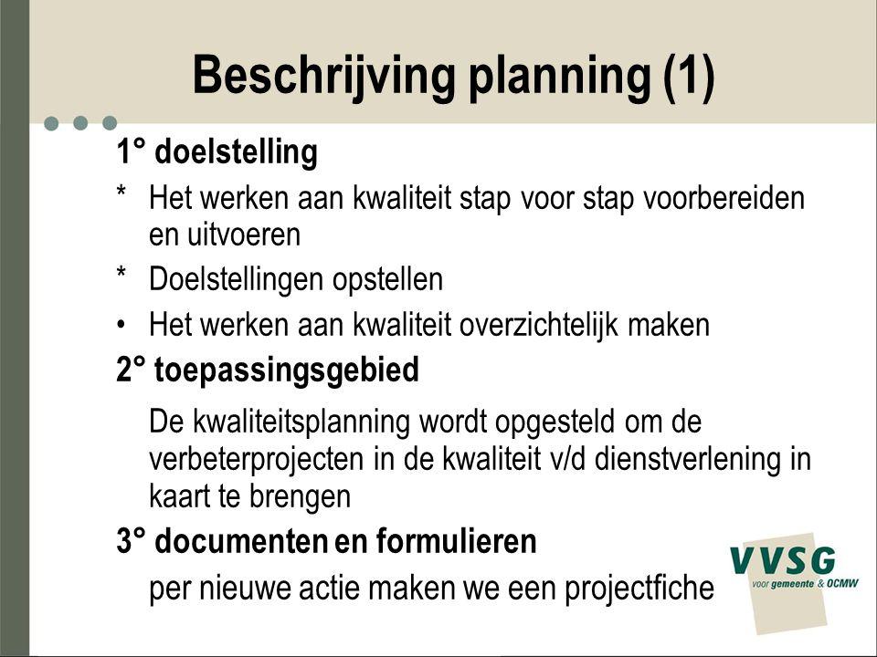 Beschrijving planning (1)