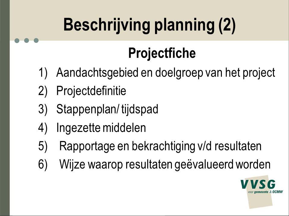 Beschrijving planning (2)