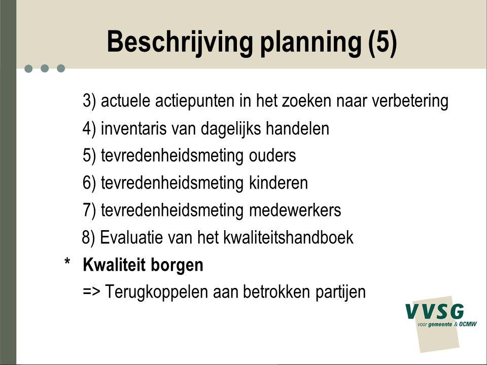 Beschrijving planning (5)