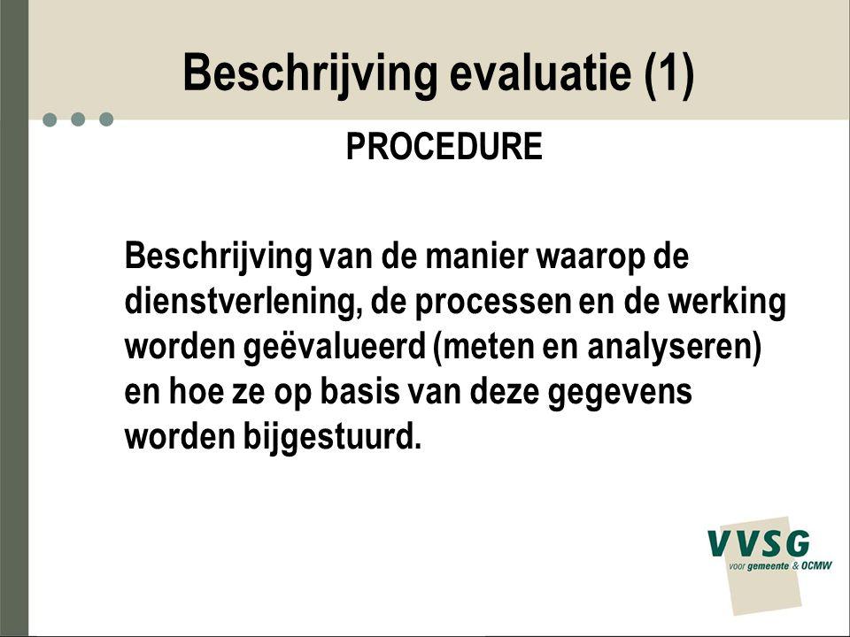 Beschrijving evaluatie (1)