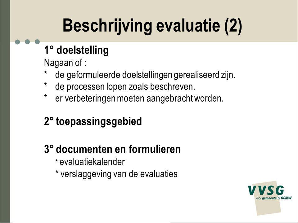 Beschrijving evaluatie (2)