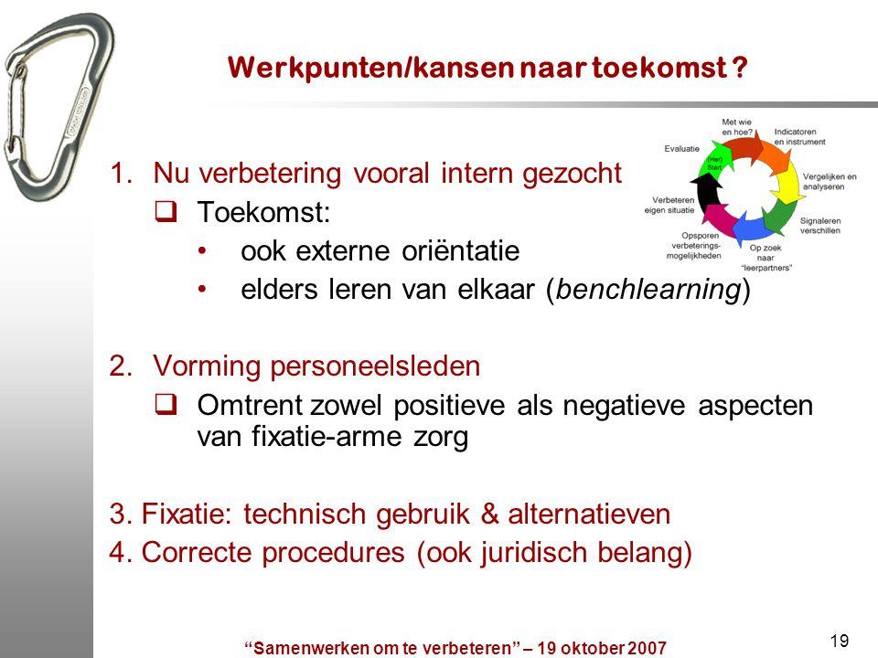 Werkpunten/kansen naar toekomst