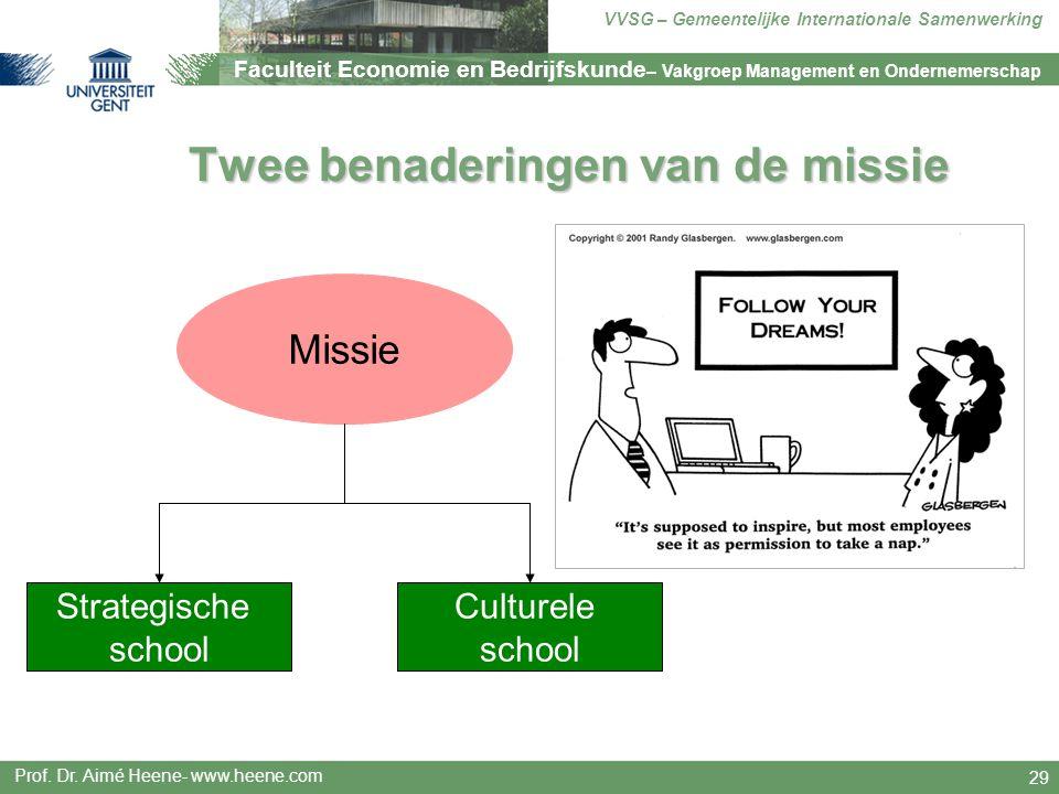 Twee benaderingen van de missie
