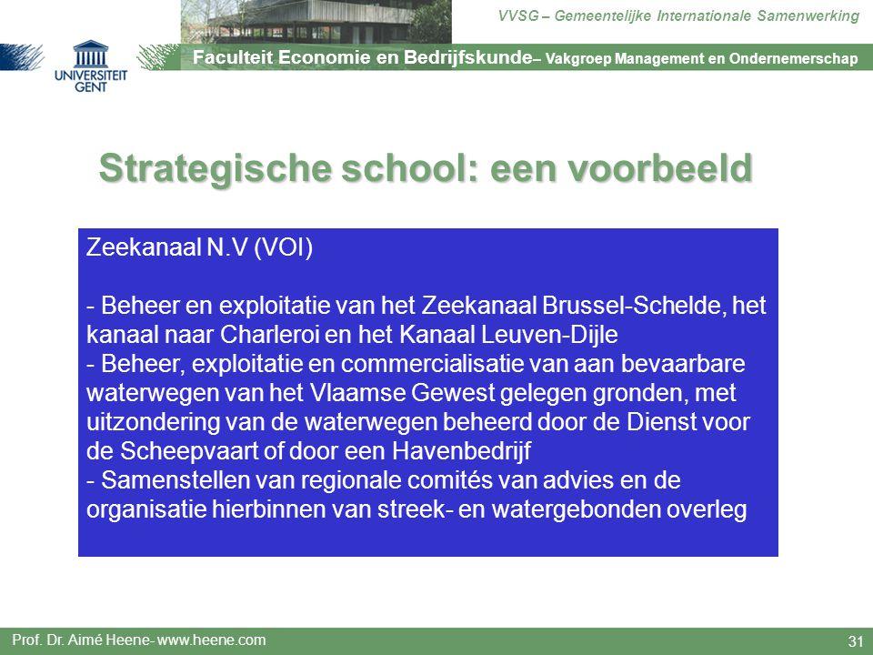 Strategische school: een voorbeeld