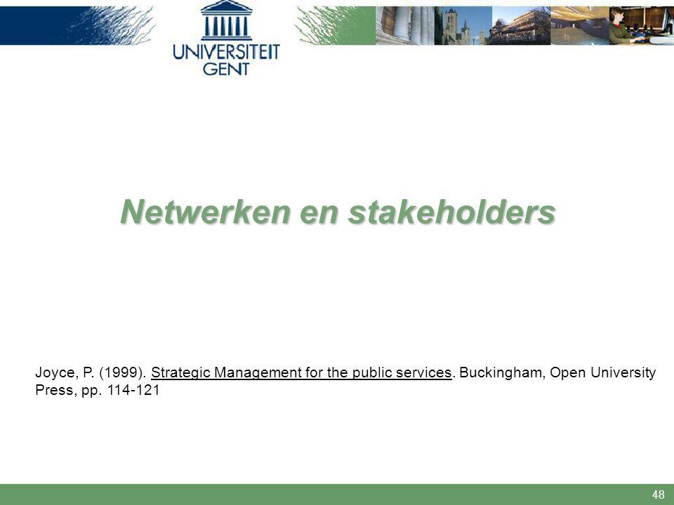 Netwerken en stakeholders
