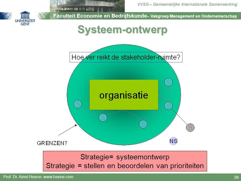 Systeem-ontwerp Strategie= systeemontwerp Strategie = stellen en beoordelen van prioriteiten.