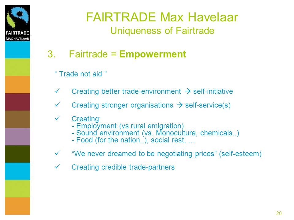 Fairtrade = Empowerment