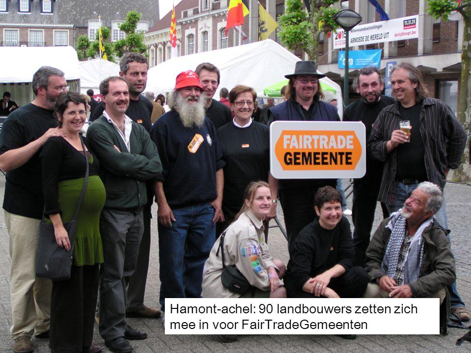 Hamont-achel: 90 landbouwers zetten zich mee in voor FairTradeGemeenten
