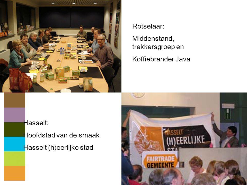 Rotselaar: Middenstand, trekkersgroep en. Koffiebrander Java.