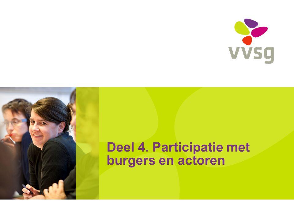Deel 4. Participatie met burgers en actoren