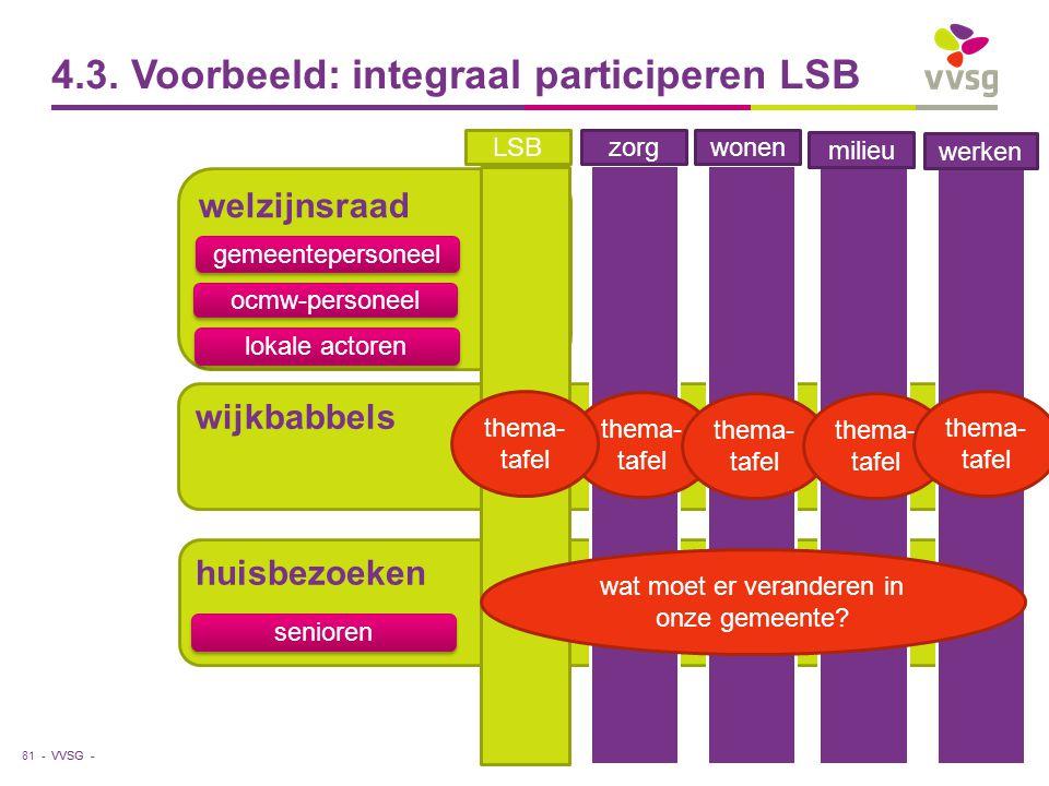 4.3. Voorbeeld: integraal participeren LSB
