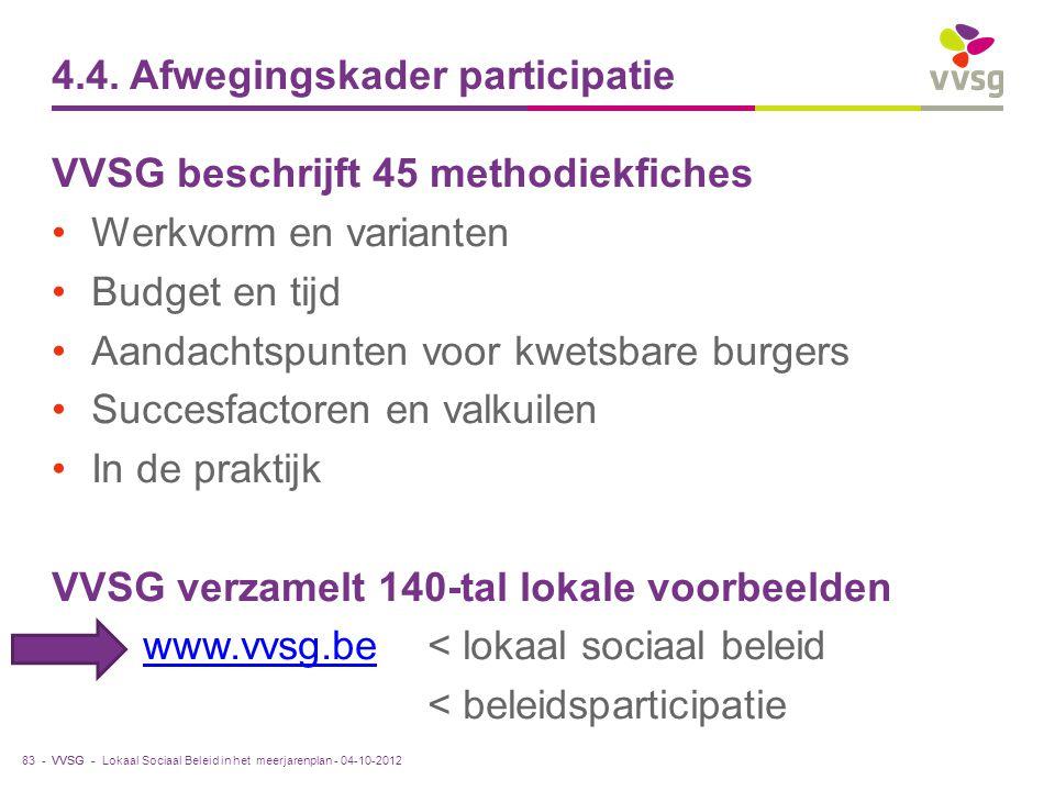 4.4. Afwegingskader participatie