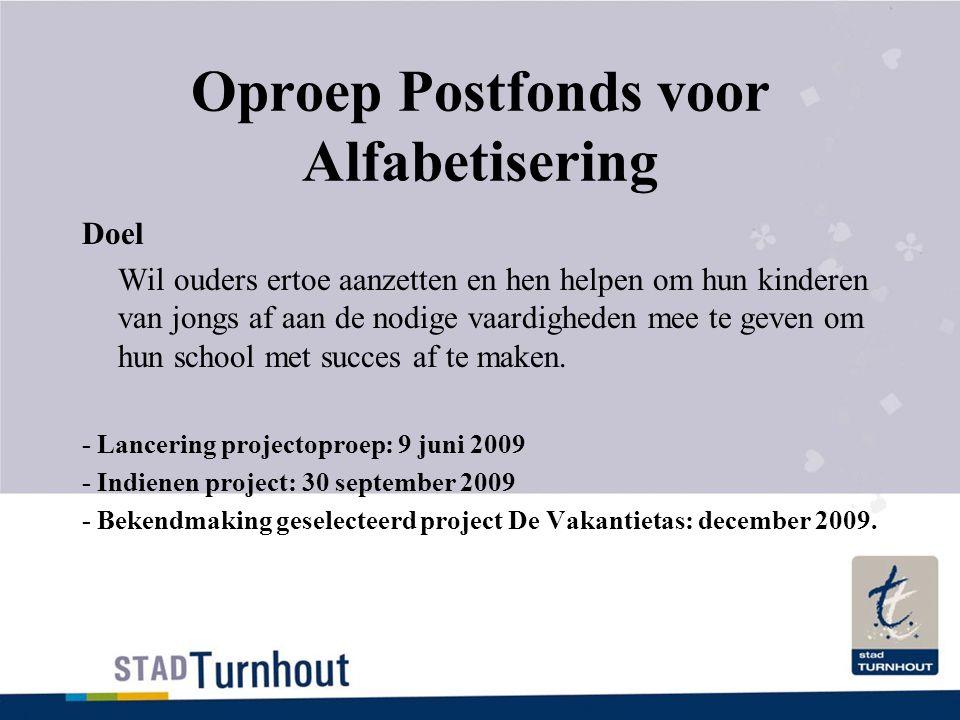Oproep Postfonds voor Alfabetisering