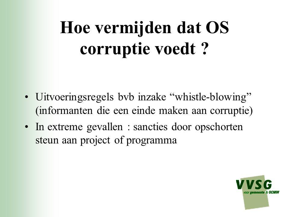 Hoe vermijden dat OS corruptie voedt