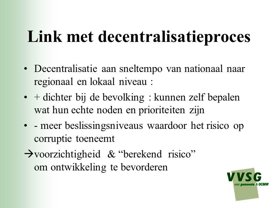 Link met decentralisatieproces