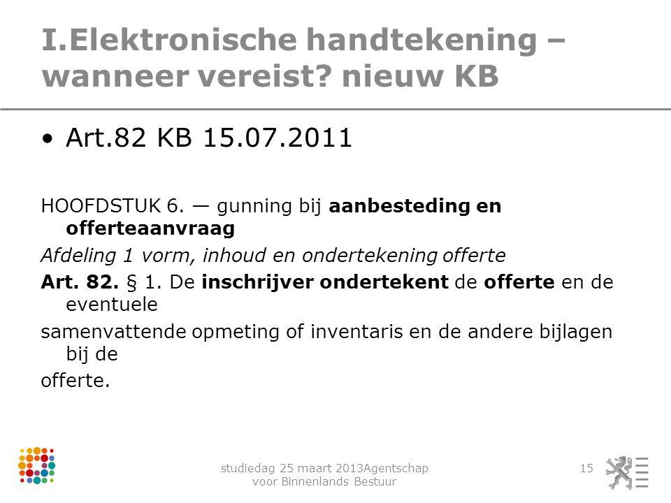 I.Elektronische handtekening – wanneer vereist nieuw KB