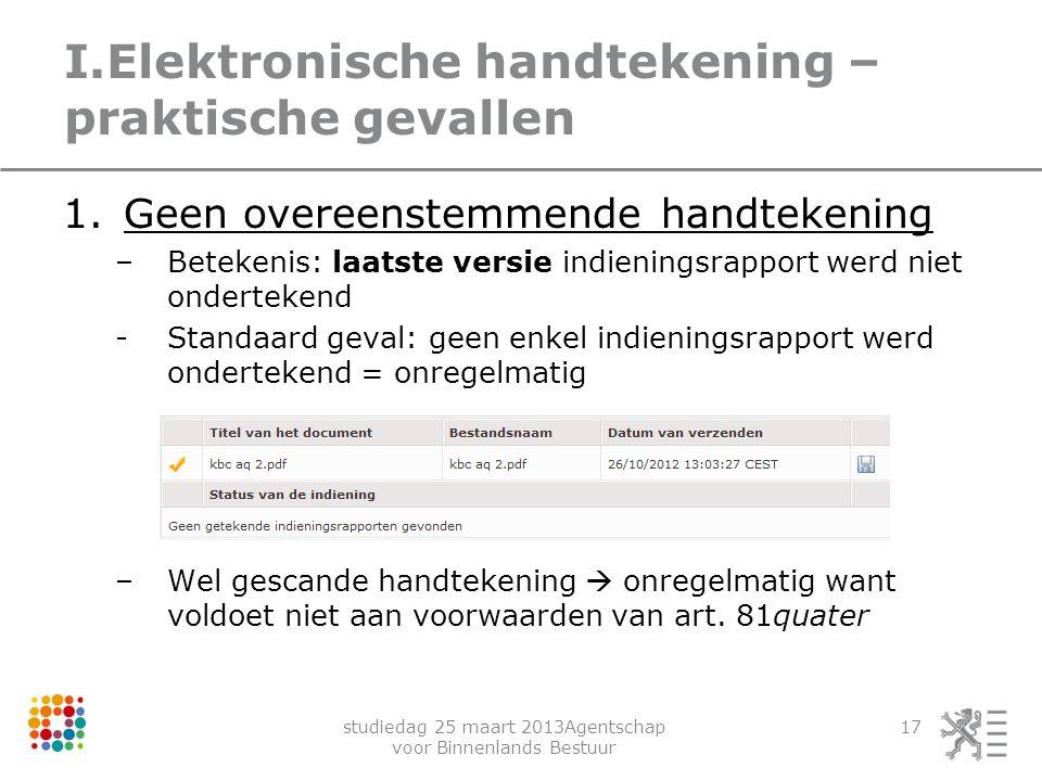 I.Elektronische handtekening – praktische gevallen