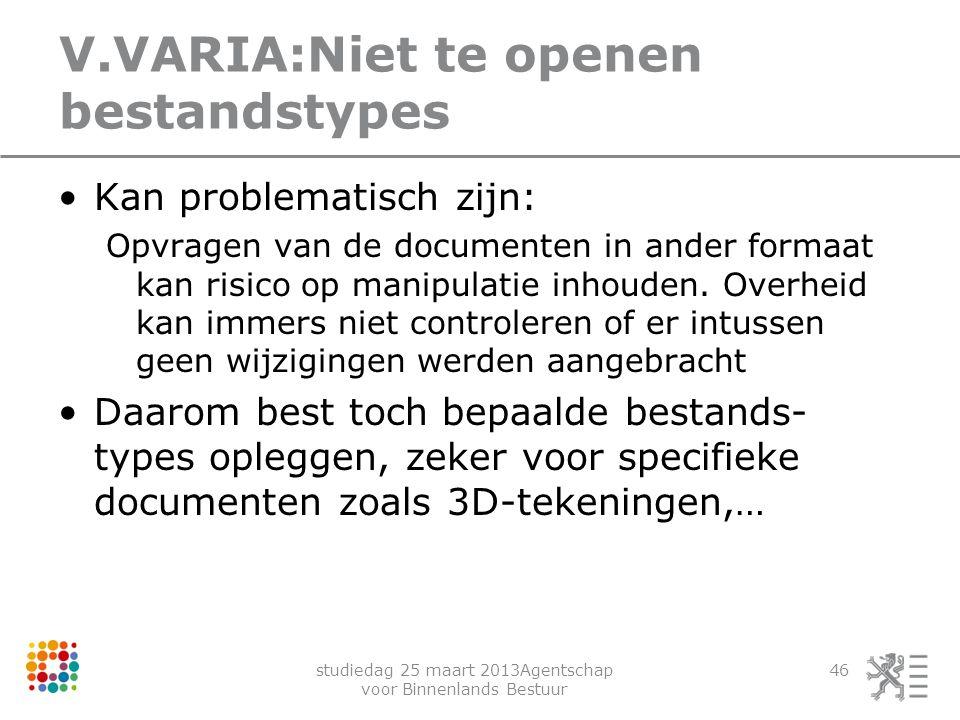 V.VARIA:Niet te openen bestandstypes