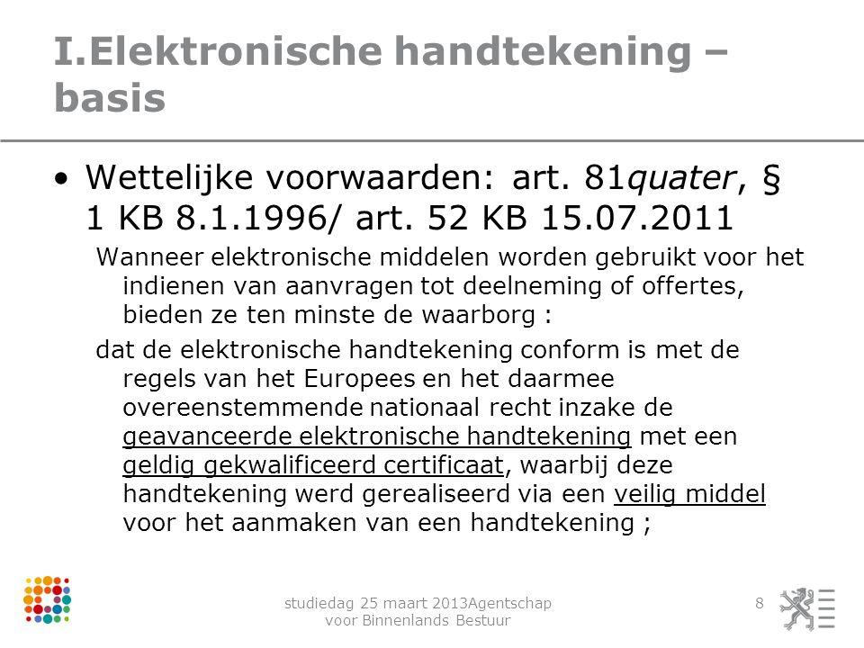 I.Elektronische handtekening – basis