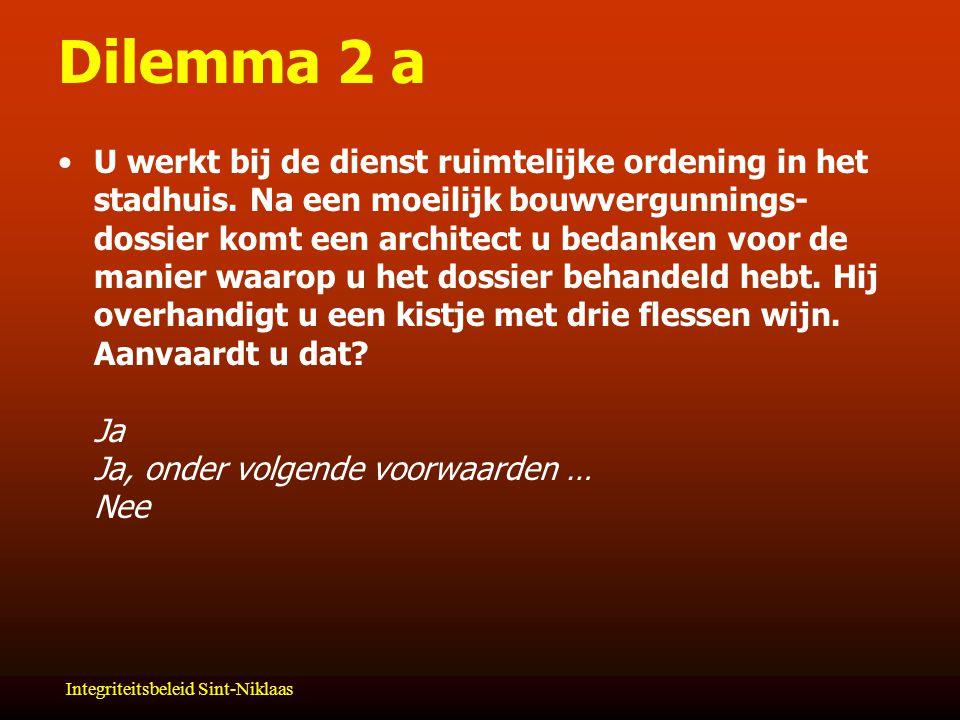 Dilemma 2 a