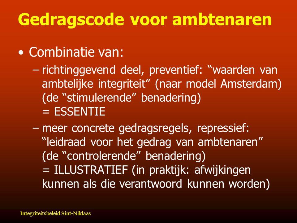 Gedragscode voor ambtenaren