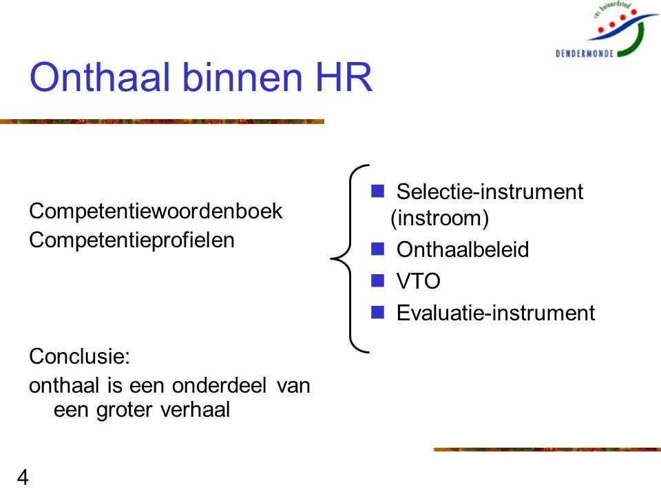 Onthaal binnen HR Selectie-instrument (instroom)