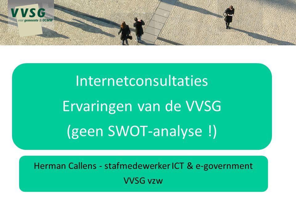 Herman Callens - stafmedewerker ICT & e-government