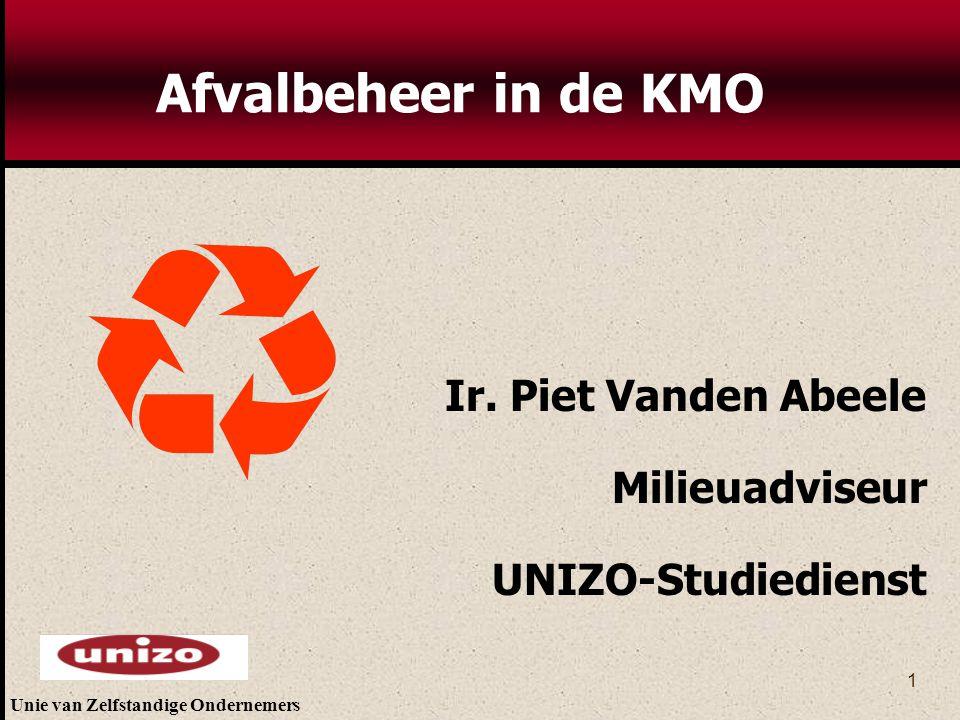 Afvalbeheer in de KMO Ir. Piet Vanden Abeele Milieuadviseur