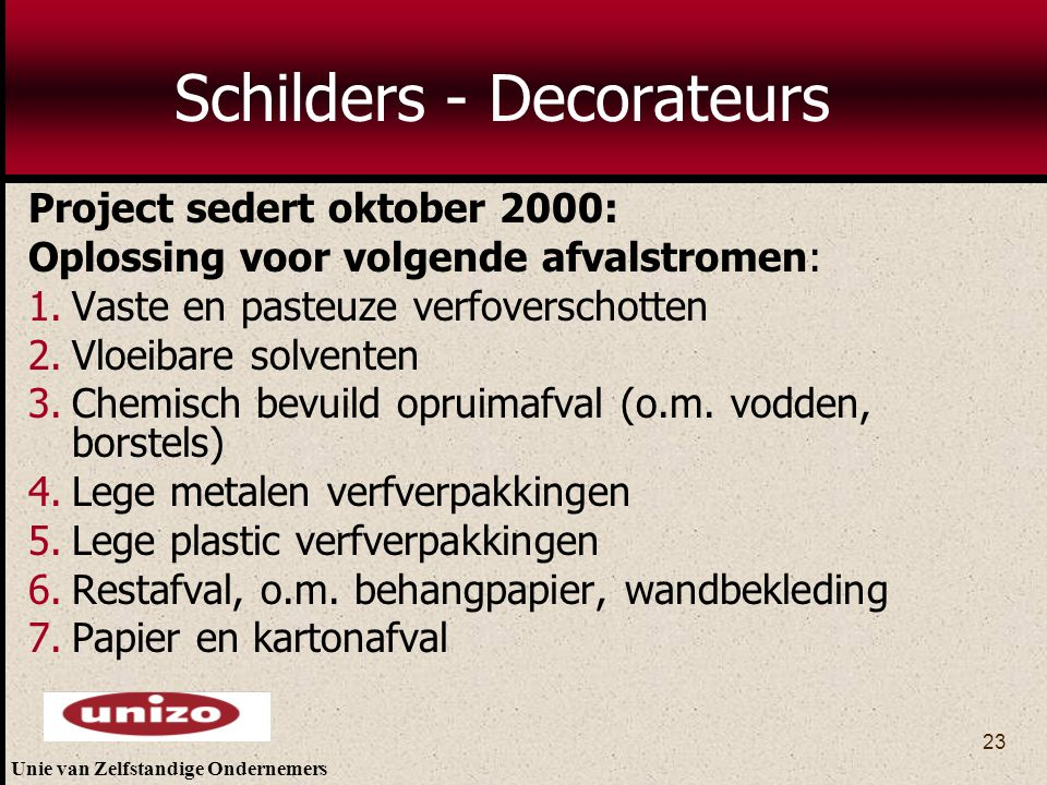 Schilders - Decorateurs