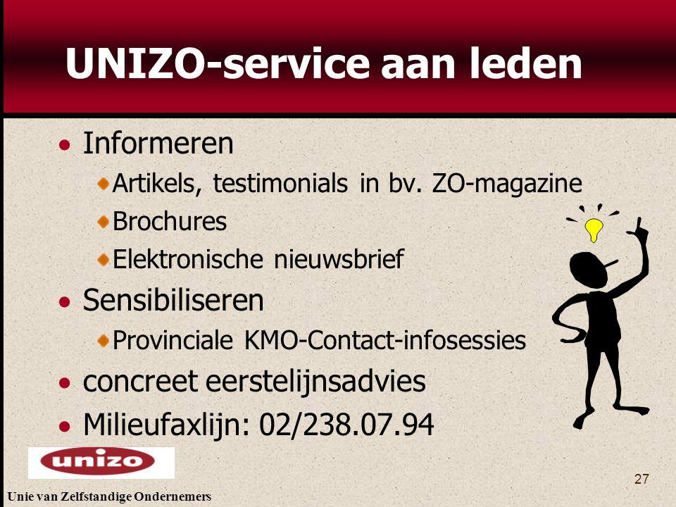 UNIZO-service aan leden