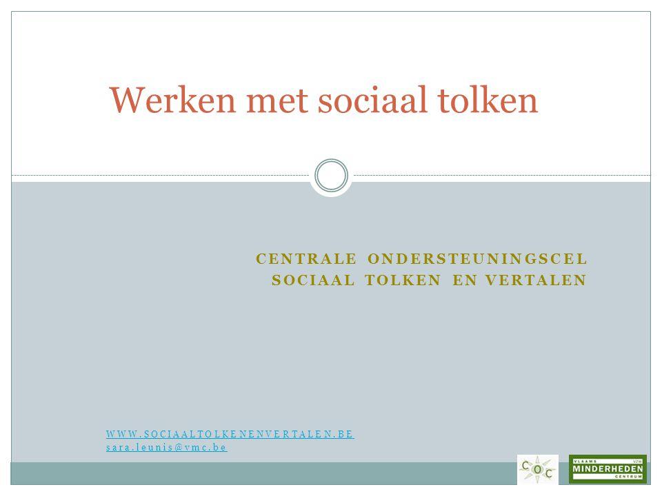 Werken met sociaal tolken