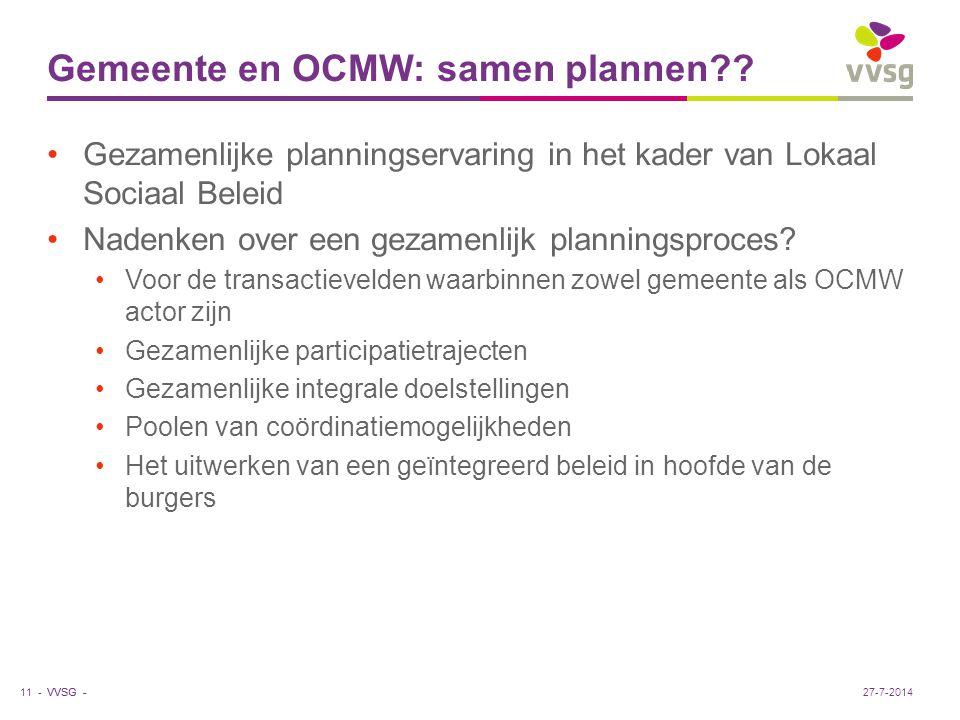 Gemeente en OCMW: samen plannen