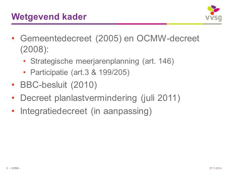 Gemeentedecreet (2005) en OCMW-decreet (2008):
