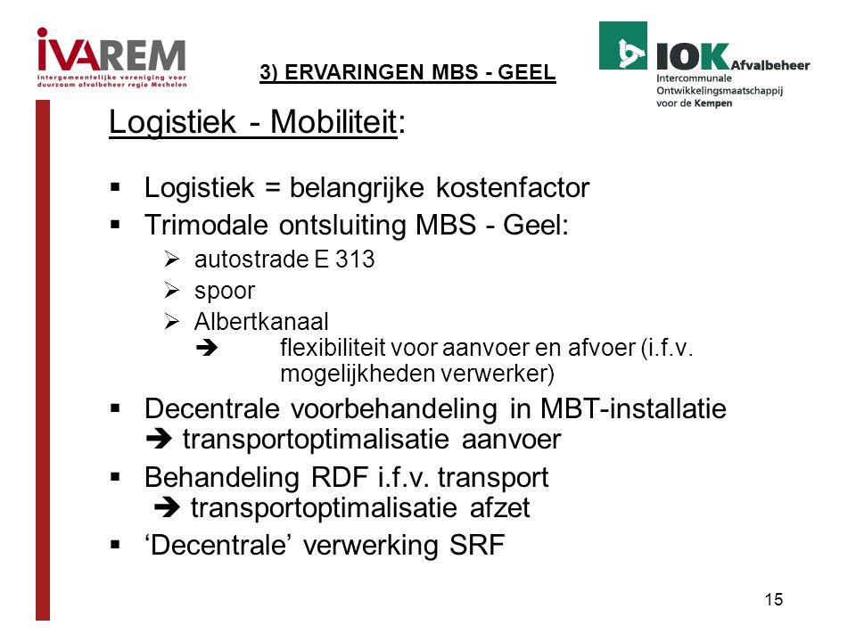 Logistiek - Mobiliteit: