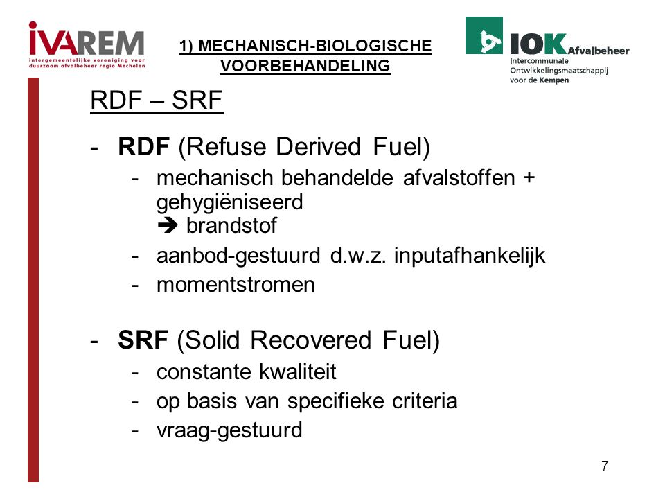 RDF (Refuse Derived Fuel)