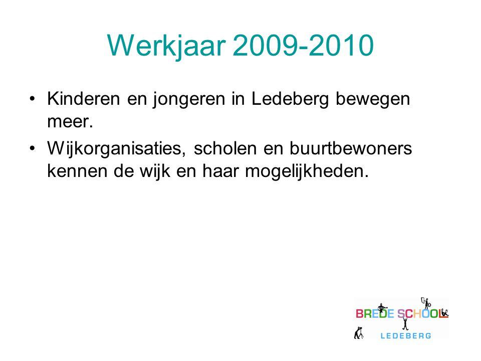 Werkjaar 2009-2010 Kinderen en jongeren in Ledeberg bewegen meer.